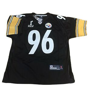 N F L Reebok Onfield Authentic Equipment Super Bowl XLV Steelers Hood 96 Nwt