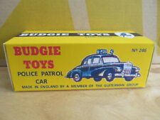 REPRODUCTION BUDGIE TOYS POLICE CAR BOX - BOX ONLY - FREE POST