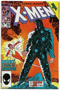 UNCANNY X-MEN#203 FN/VF 1986 MARVEL BRONZE AGE COMICS