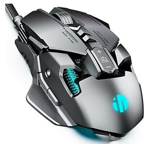 INPHIC RGB Wired Gaming Mouse, 7200 DPI, Ergonomic Design, 7 Programmable Button