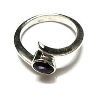Natural Amethyst Natural Gemstone 925 Sterling Silver Ring Size 6.5 R 7