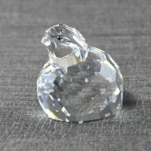 Swarovski Partridge Bird Retired Silver Crystal Figurine Rare Quail