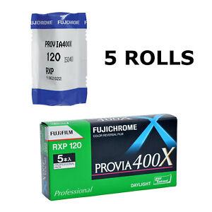 5 Rolls Fuji Fujifilm Fujichrome PROVIA 400X RXP 120 Color Reversal Film