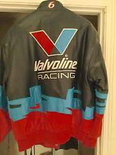 Roush Racing Leather Jacket Valvoline Cummins Medium NASCAR