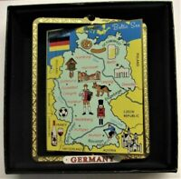 Map of Germany,Ornament,Frankfurt,Hamburg,Berlin,Munich,Nutcracker,Beer,Bretzl