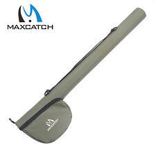 Maxcatch Green Cordura Triangular Rod Case Fly Fishing Rod Tube For 9FT 4Sec Rod