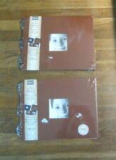 2 Prat Paris Pampa Bonded Leather Scrapbook Albums Ivory Black Sheets Paper