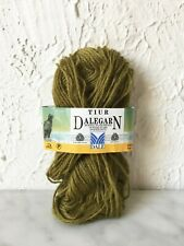 Dalegarn Dale of Norway Tiur Mohair Wool Yarn - Partial Skein Color Olive #9853