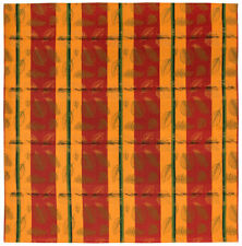 """100% Cotton Red & Yellow Striped 60""""x60"""" Tablecloth - Indian Summer"""