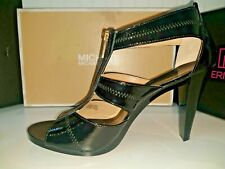 MICHAEL KORS BERKLEY T-STRAP BLACK PATENT DRESS SANDAL SHOES 11 ***NEW***