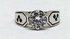 Stunning Engagement 925 Sterling Silver Batman Harley Quinn Ring+Free Gift