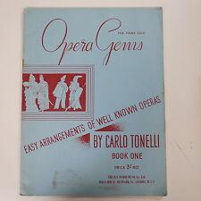 Piano solista Carlo Tonelli opera Gemas, fácil Arr's, libro 1