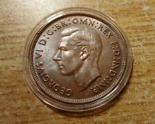AU Rich Brown Golden Uncirculated 1941 Australia Penny of George VI, 1d W HOLDER