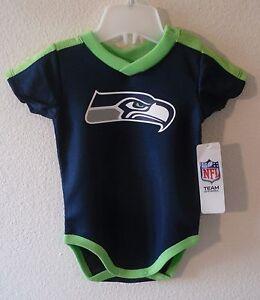 NWT Gerber Seattle Seahawks Newborn Infant Team Logo Bodysuit 18M Navy MSRP$25