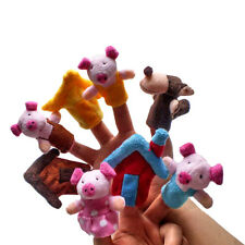 Finger Puppets Educational Hand Toy Kids Story Three Little Pigs Finger Dolls IS