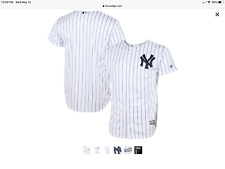 New York Yankees Youth Small Home  White Pinstripe Game Jersey.