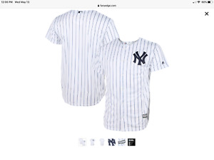 New York Yankees Youth Large  Home  White Pinstripe Game Jersey.