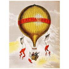 Lachambre Balloon Deco Magnet, Hot Air Henri Lachambre Antique Poster Mini Gift