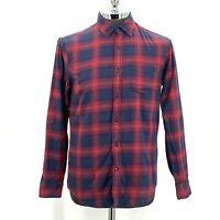 Banana Republic Shirt Luxe Flannel Slim Fit Button Down Plaid Men's Size Medium