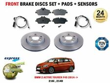 BMW 2 Active Tourer F45 216 214D 2014> Frein Avant Disque Set + Patins + Capteur