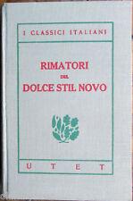 1920s UTET-I Classici Italiani-RIMATORI DEL DOLCE STIL NOVO-Cavalcanti,Alfani...