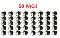 50x Black 1A USB Power Adapter AC Home Wall Charger US Plug FOR iPhone 5 6 7 8 X