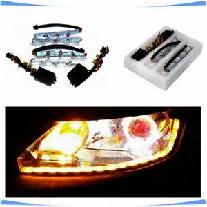 12V Dual Tearful Eyes LED Light Turn Signals Daytime Running Lamp Sturdy BIS- 8W