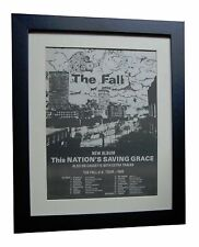 THE FALL+Nation's Saving Grace+POSTER+AD+ORIGINAL 1985+FRAMED+FAST GLOBAL SHIP