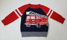 Baby Gap Baby Boy Fire Truck Wool Blend Knit Sweater 12-18 Months NWT