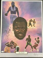 Joe Frazier Signed Lithograph Boxing Autograph LE Heavyweight Olympic HOF JSA