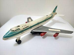 VINTAGE BOEING 747 AIRPLANE CRUZEIRO BRAZILIAN AIRLINES TIN LITHO ARGENTINA 1960