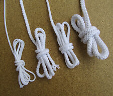 Cotton Rope Sash Cord Twine White Braided Cord 4 sizes Cotton Craft Rope String
