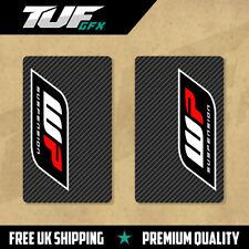 Blanco calcomanías de horquilla superior de energía Motocross MX Gráficos de carbono de gráficos