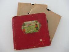 ORIGINAL Plattenalbum mit 5 Platten,  Kinder-Grammophon-Schellack-Platten 15 cm