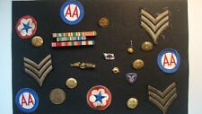 New listing Huge Lot of Wwii Military Patches - Buttons - Medals - Ribbons - Coin World War