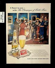 1949 Miller High Life Beer Champagne of Beer Vintage Print Ads 9373