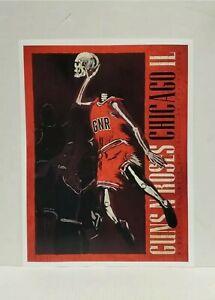 Guns N Roses Lithograph 13 x 17 Chicago IL  Michael Jordan Reprint 2017 and
