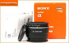 Sony DT 50mm F1.8 Sam messa a fuoco automatica focale fissa una Mount + spedizione gratuita nel Regno Unito