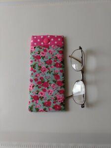 Glasses Case Pouch. Handmade In Designer Fabric. Lovely Gift.New