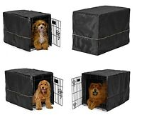 Black Opaque Dog Crate Cover Selections - Quiet Night Time Den Like Security