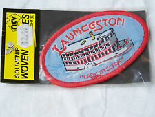 VINTAGE LAUNCESTON LADY STEELFOX EMBROIDERED SOUVENIR PATCH WOVEN CLOTH BADGE