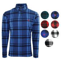 Chaps Men's Fleece Flannel 1/4 Zip Jacket