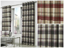Curtina Checked Ready Made Curtains & Pelmets
