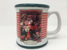 Boyds Bears Apple Of My Eye Coffee Mug Green Red White Boyde Collection Cup Gift