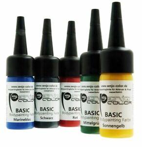 Bodypainting Farbe Senjo Color Basic 15ml wasserlöslich feinstpigmentiert TSB011