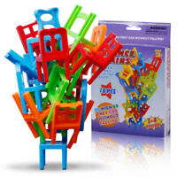 Kids Children's Stacking Chair Parent-child Party Puzzle Board Game Toy New