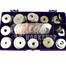 75 ASSORTED PIECE A4 MARINE STAINLESS PENNY REPAIR WASHERS M4 M5 M6 M8 M10 KIT