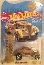 Hot Wheels Gold 50th Anniversary Pass N Gasser Euro HTF RARE