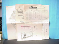Pola G Scale Model Train Kit Instructions for #911 Double Locomotive Shed