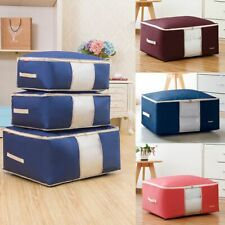 Oxford Clothes Quilt Blanket Storage Bag Washable Organizer Foldable Zipper Box